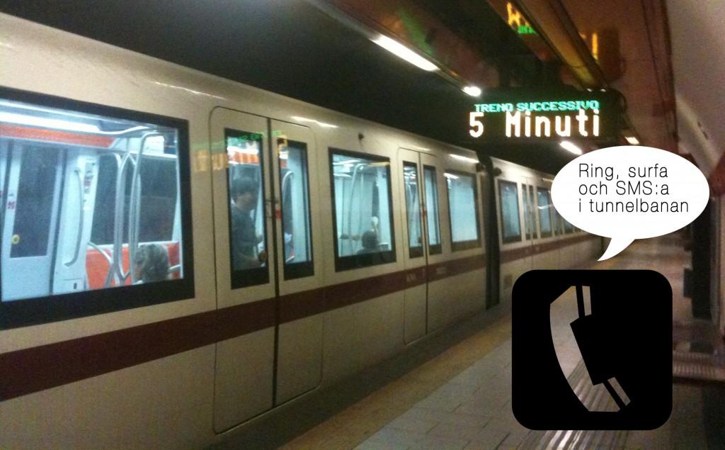 Bild på tunnelbanan i Rom