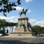 Gianicolo- staty av Giuseppe Garibaldi