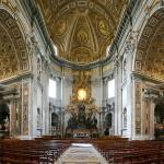 Sevärdheter/kyrkor i Rom: Peterskyrkan- interiör