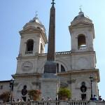 Spanska trappan (Piazza di Spagna): Trinità dei Monti