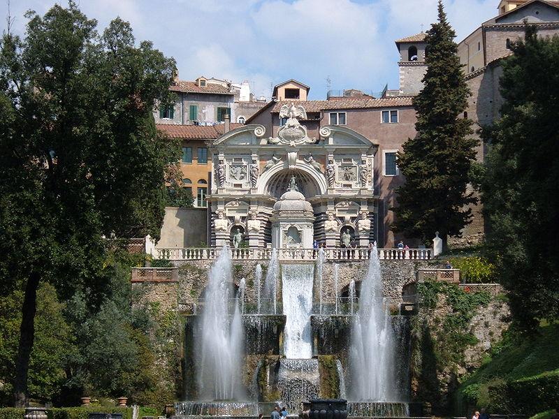 Villa d'Este i Tivoli, Rom
